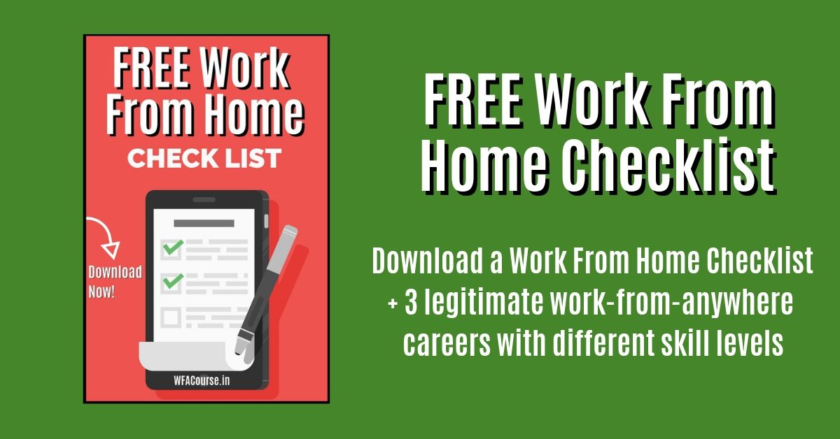 Download Work From Home Checklist